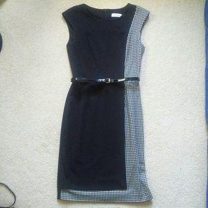 Calvin Klein Dress Black & White